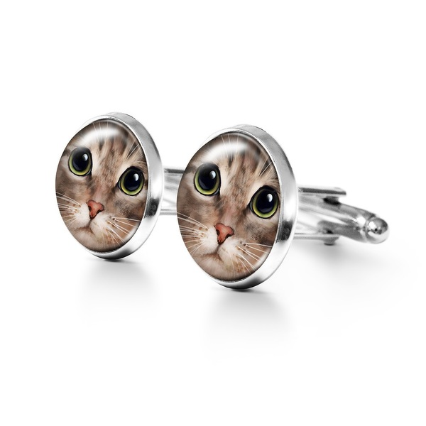 Yenoo Cufflinks - Tigger Cat