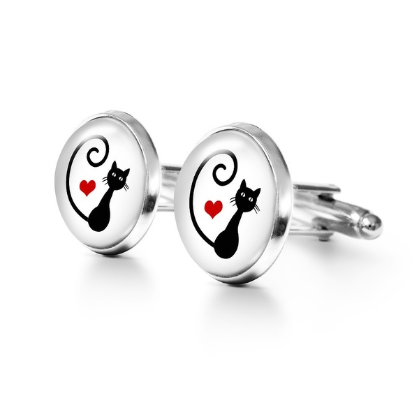 Yenoo Cufflinks - Kitty heart