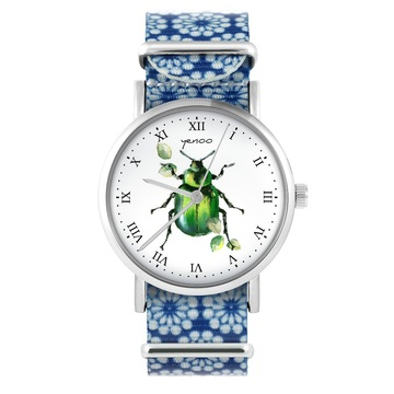 Yenoo watch - Green Bettle...