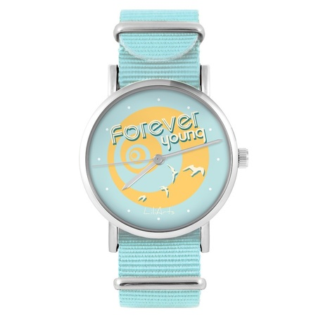 LiliArts watch - Forever young - blue, nylon