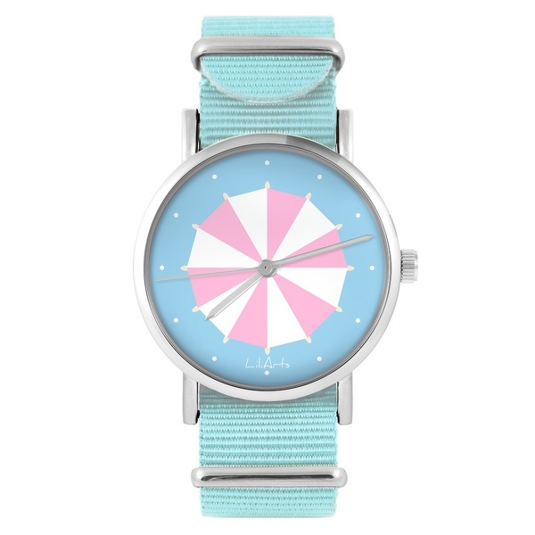 LiliArts watch - Umbrella - blue, nylon