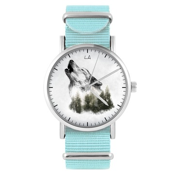 LiliArts watch - Wilk - Into The Wild - blue, nylon