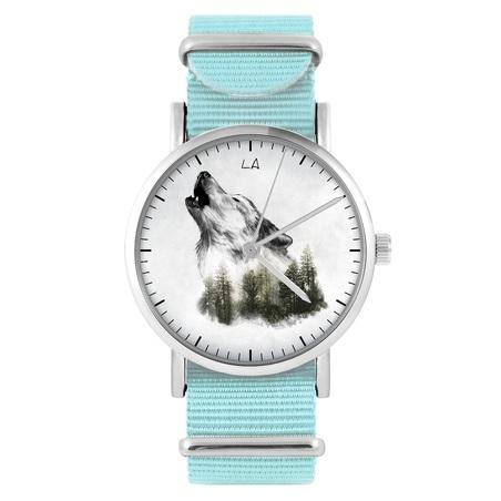 LiliArts watch - Wilk - Into The Wild - blue, nylon