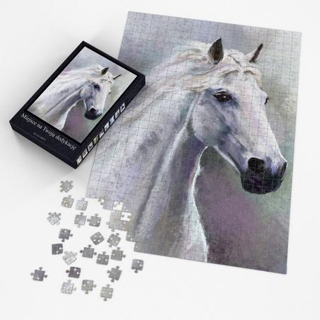 Puzzle - White horse - 60x42 cm - 600 pcs