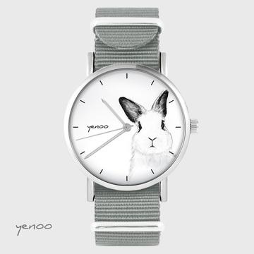 Watch - Rabbit - grey, nylon