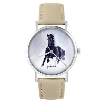 Zegarek yenoo - Czarny koń...