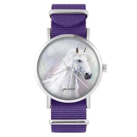 yenoo watch - White horse - purple, nylon
