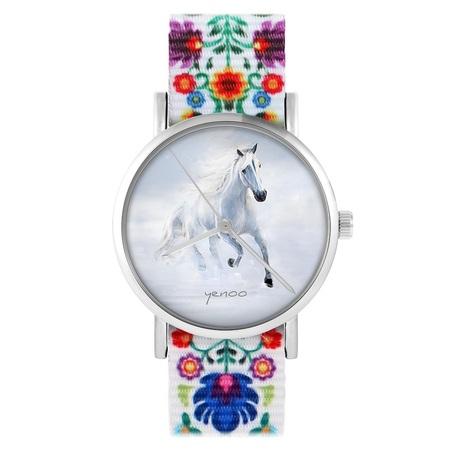 yenoo watch - White running horse - folk, nylon