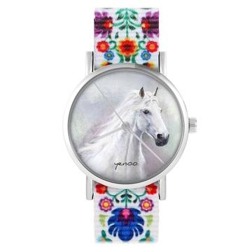 Zegarek yenoo - Biały koń...