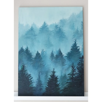 Painting - Forest - acrylic...