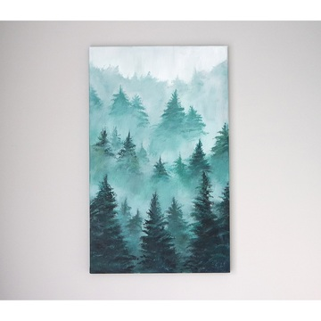 Painting - Green Forest -...