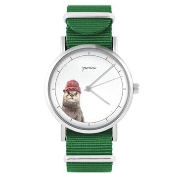 Yenoo watch - Otter - green, nylon