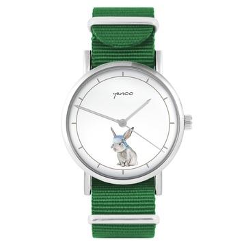 Yenoo watch - Hare - green, nylon