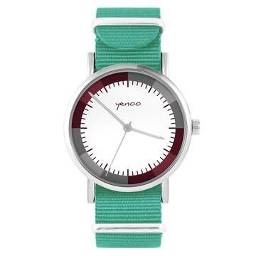Yenoo watch - Classic wine - turquoise, nylon
