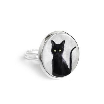 Yenoo ring 18mm - Black cat