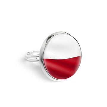 Yenoo ring 18mm - Polish flag