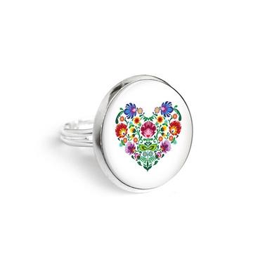 Yenoo ring 18mm - Folk heart
