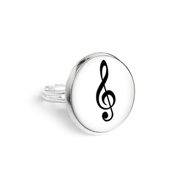Yenoo ring 18mm - treble clef