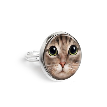 Yenoo ring 18mm - Tiger cat