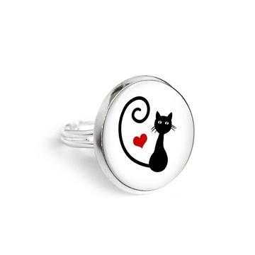 Yenoo ring 18mm - Kitten heart