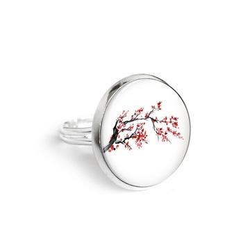 Pierścionek yenoo 18mm - Kwiat wiśni