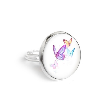 Yenoo ring 18mm - Butterflies