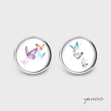 Earrings with graphics - Butterflies