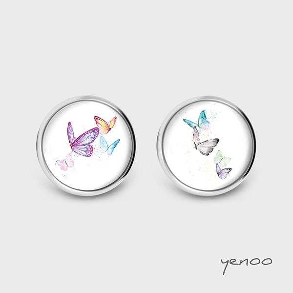 Kolczyki sztyfty - Motyle - grafika