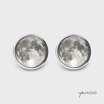 Earrings with graphics - Moon