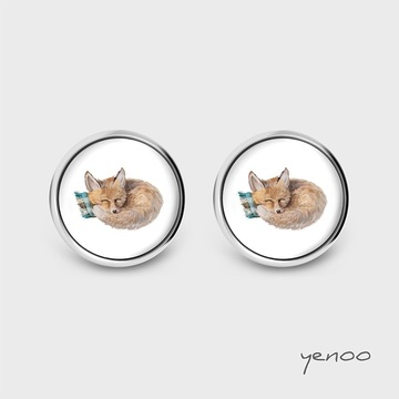 Earrings with graphics - Little fox