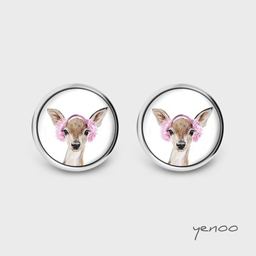 Earrings with graphics - Roe