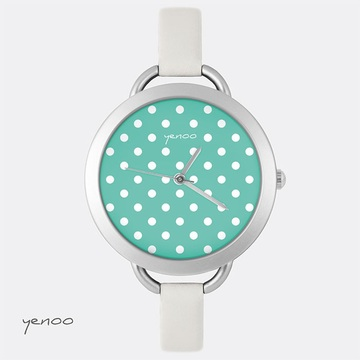 Watch, Dots - Turquoise