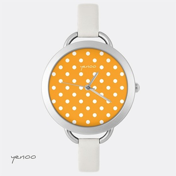 Watch, Dots - Orange