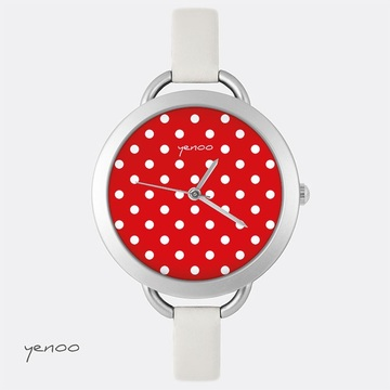 Watch, Dots - Red