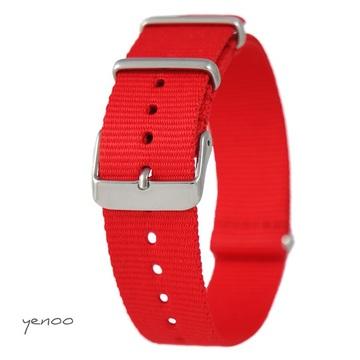 Watch strap - nylon, red