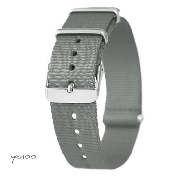 Watch strap - nylon, gray