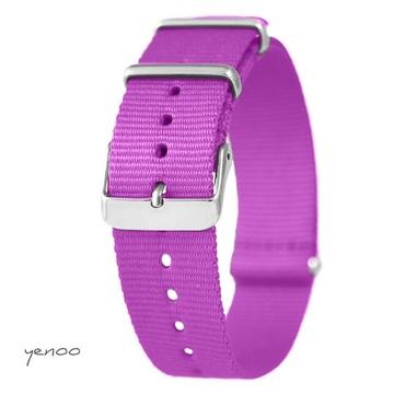 Watch strap - nylon, magenta
