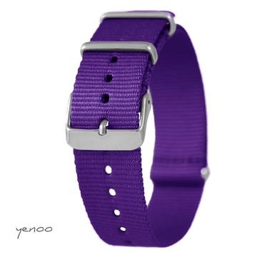 Watch strap - nylon, purple