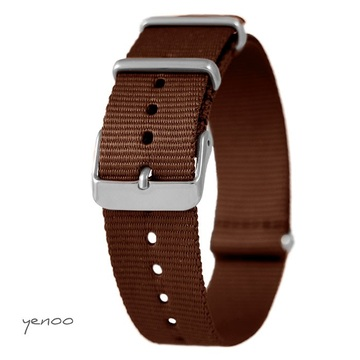 Watch strap - nylon, brown