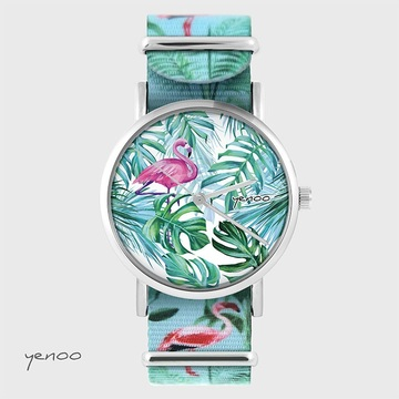 Watch - Flamingo, tropical...