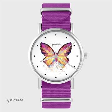 Watch - Butterfly, Magenta,...