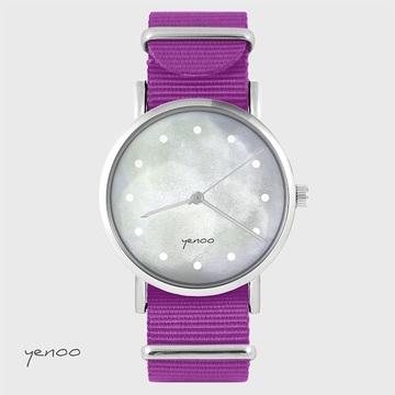 Watch - Grey, Magenta, nylon