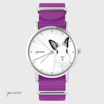 Watch - Rabbit, Magenta, nylon