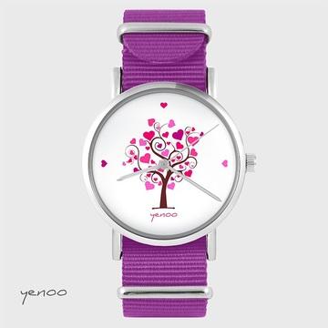 Watch - Love tree, Magenta,...