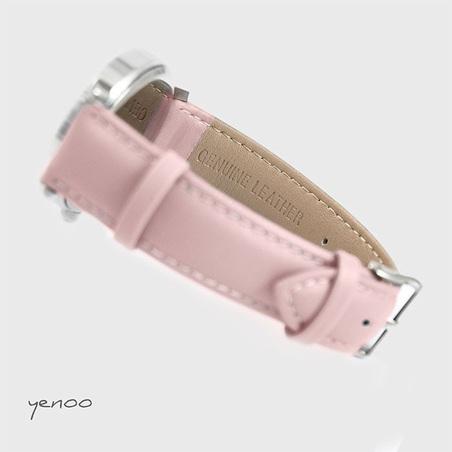 Zegarek, bransoletka - Szkocka krata - pudrowy róż