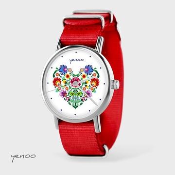 Watch - Folk heart, Red, nato