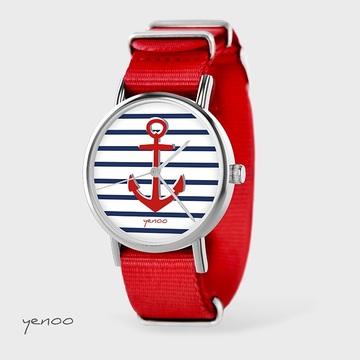 Watch - Anchor, Red, nylon