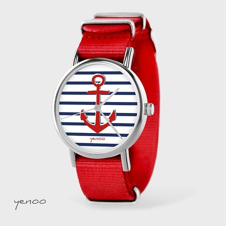 Watch - Anchor, Red, nato