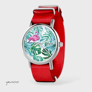 Watch - Flamingo, Red, nato