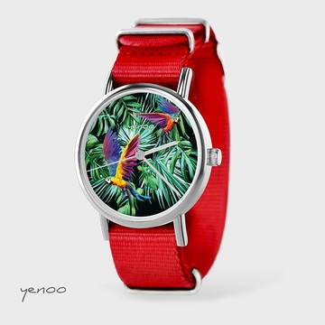 Watch - Parrots, Red, nato